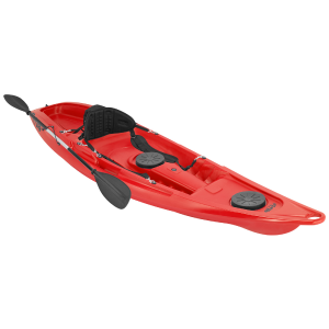 Kaafu Kayak with Seatback & Paddle Red