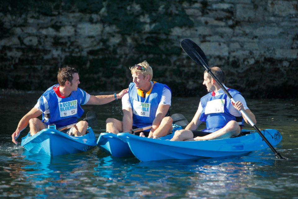 Blue mile kayaking event