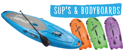 SUP's and Bodyboards