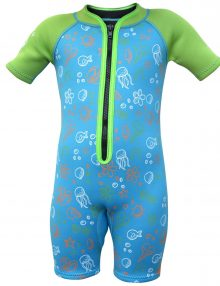 Toddler's Summer wetsuit in blue and green