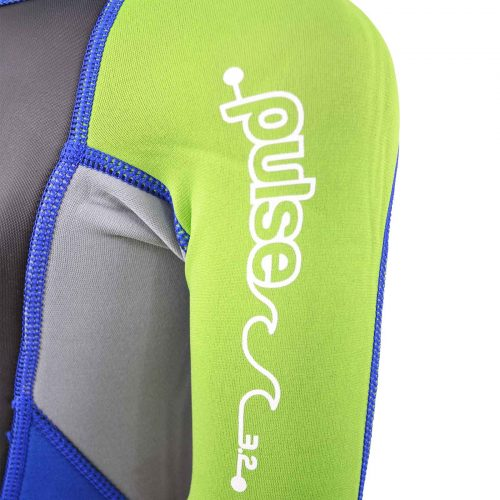 Arm logo of young child's Summer wetsuit
