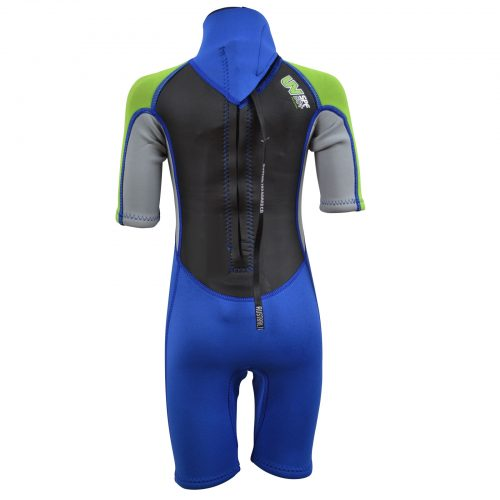 Back of young child's Summer wetsuit