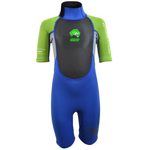 Young child's blue and green Summer wetsuit
